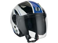 helmet Speeds Jet City II Graphic white / blue