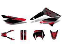 decal set black-red-grey glossy for Gilera RCR 11-17