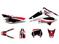 decal set black-white-red glossy for Gilera SMT 11-17