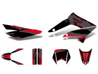 decal set black-red-grey glossy for Gilera SMT 11-17