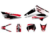 decal set black-white-red glossy for Gilera RCR 11-17