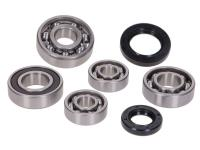 gearbox bearing set w/ oil seals for GY6 139QMA, QMB 4-stroke